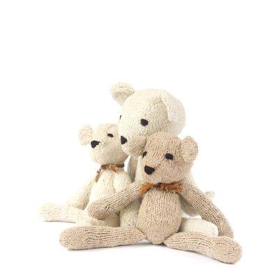 Kenana Nitters Kenana knitters knuffel beer L beige