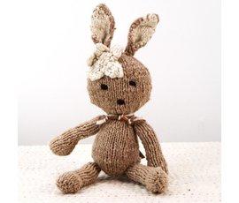 Kenana Nitters Kenana Knitters knuffel konijn beige  S