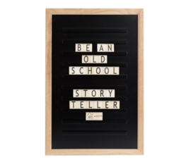 Trends and Trade Old school letter board black