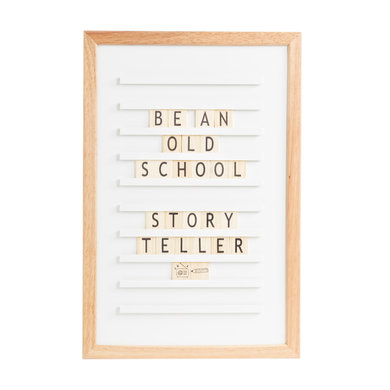Trends and Trade Old school letter board white