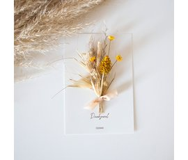 Cocoomade Cocoomade flowercard Dank je wel