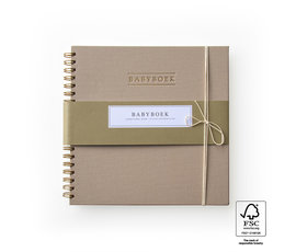 House of products HOP babyboek taupe