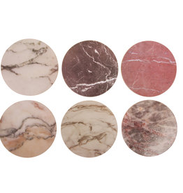 KLEVERING &K SET 6 MARBLE COASTERS