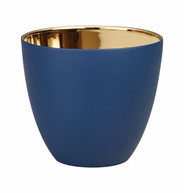 KLEVERING &K TEALIGHT GOLD NAVY LARGE