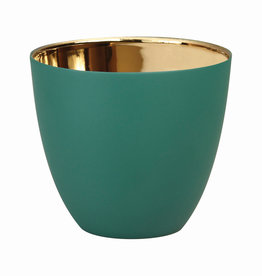 KLEVERING &K TEALIGHT GOLD GREEN LARGE