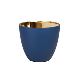 KLEVERING &K TEALIGHT GOLD NAVY SMALL