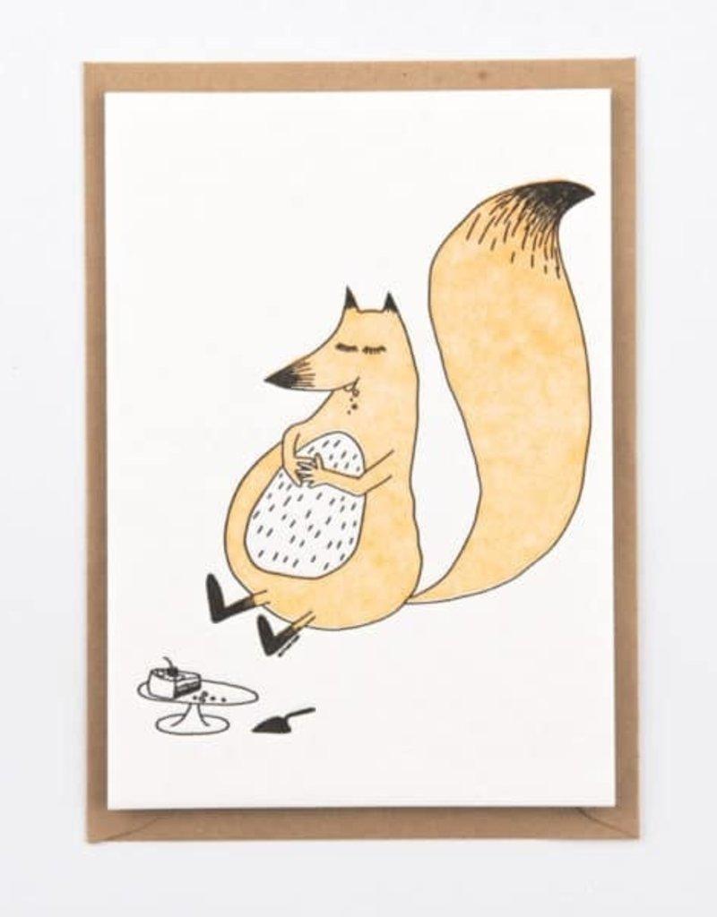 STUDIO FLASH FLASH BDAY FOX CAKE EATING