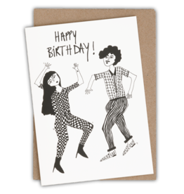 HELEN B HELEN B KAARTJE HAPPY BIRTHDAY DANCING COUPLE