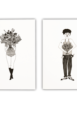 HELEN B HELEN B NOTEBOOK FLOWER GIRL & FLOWER MAN