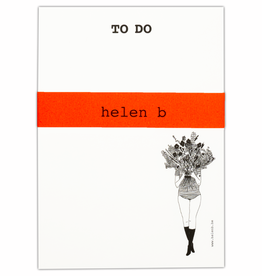 HELEN B HELEN B BLOCNOTE TO DO FLOWER GIRL
