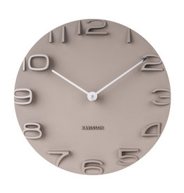 PRESENT TIME PT KARLSSON WALL CLOCK ON THE EDGE WARM GREY