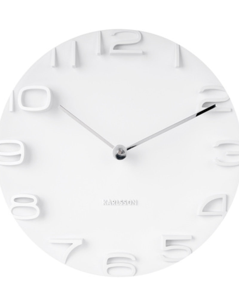 PRESENT TIME PT KARLSSON WALL CLOCK ON THE EDGE WHITE