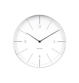 PRESENT TIME PT KARLSSON WALL CLOCK NORMANN WHITE