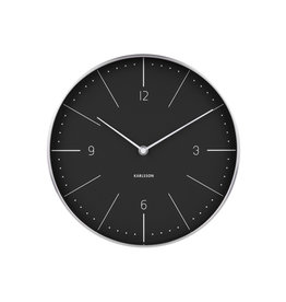 PRESENT TIME PT KARLSSON WALL CLOCK NORMANN BLACK
