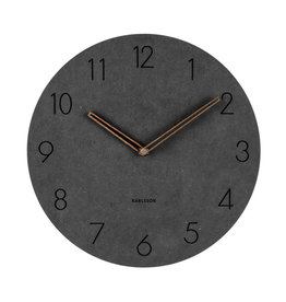 PRESENT TIME PT KARLSSON WALL CLOCK DURA KOREAN WOOD BLACK