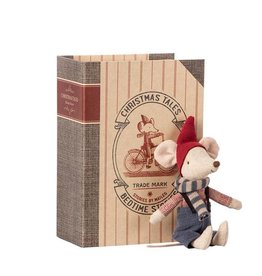 MAILEG MAILEG CHRISTMAS MOUSE IN BOOK BROTHER