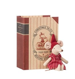 MAILEG MAILEG CHRISTMAS MOUSE IN BOOK SISTER