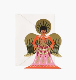 RIFLE PAPER CO RIFLE XMAS HAPPY HOLIDAYS ANGEL CARD