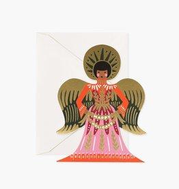 RIFLE PAPER CO RIFLE XMAS HAPPY HOLIDAYS ANGEL CARD