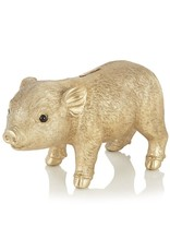 KLEVERING &K COINBANK PIG GOLD