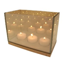 KLEVERING &K REFLECTION TEALIGHT TRIPLE GOLD