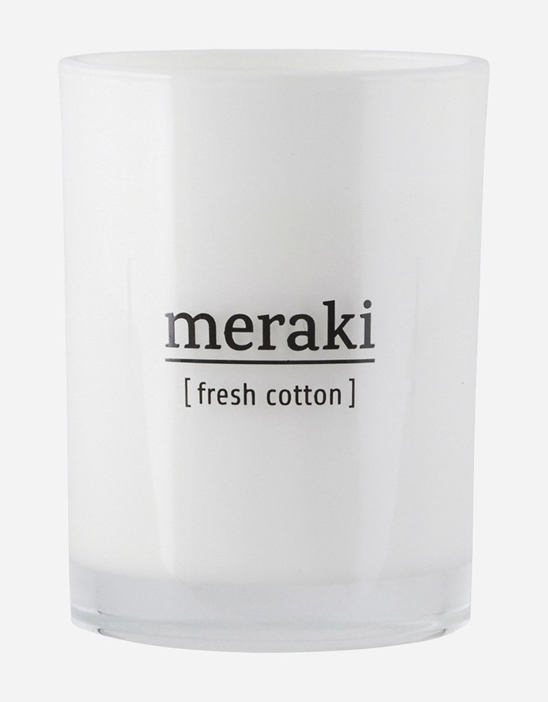 MERAKI MERAKI SCENTED CANDLE 8CM FRESH COTTON