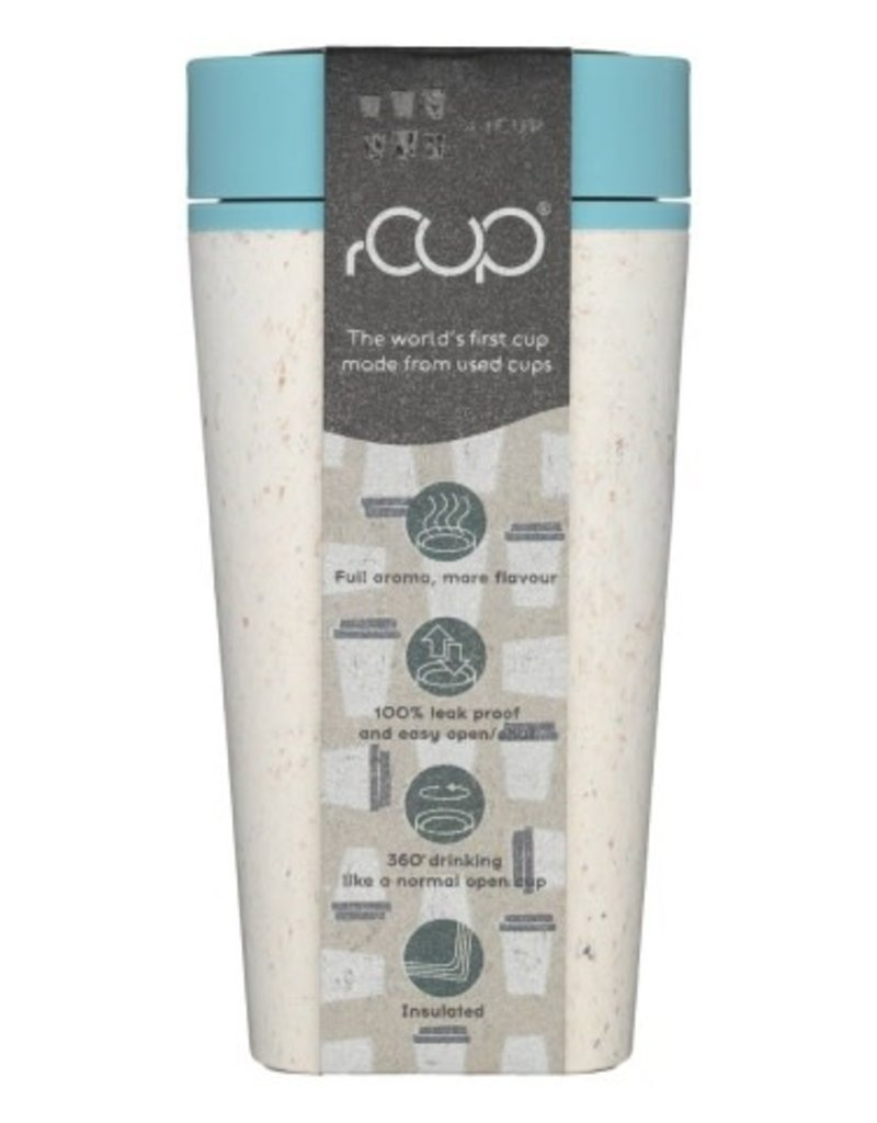 RCUP rCup Thermos Koffiebeker - 0,35L CREME/BLAUW