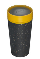 RCUP rCUP Thermos Koffiebeker - 0,35L ZWART/GEEL