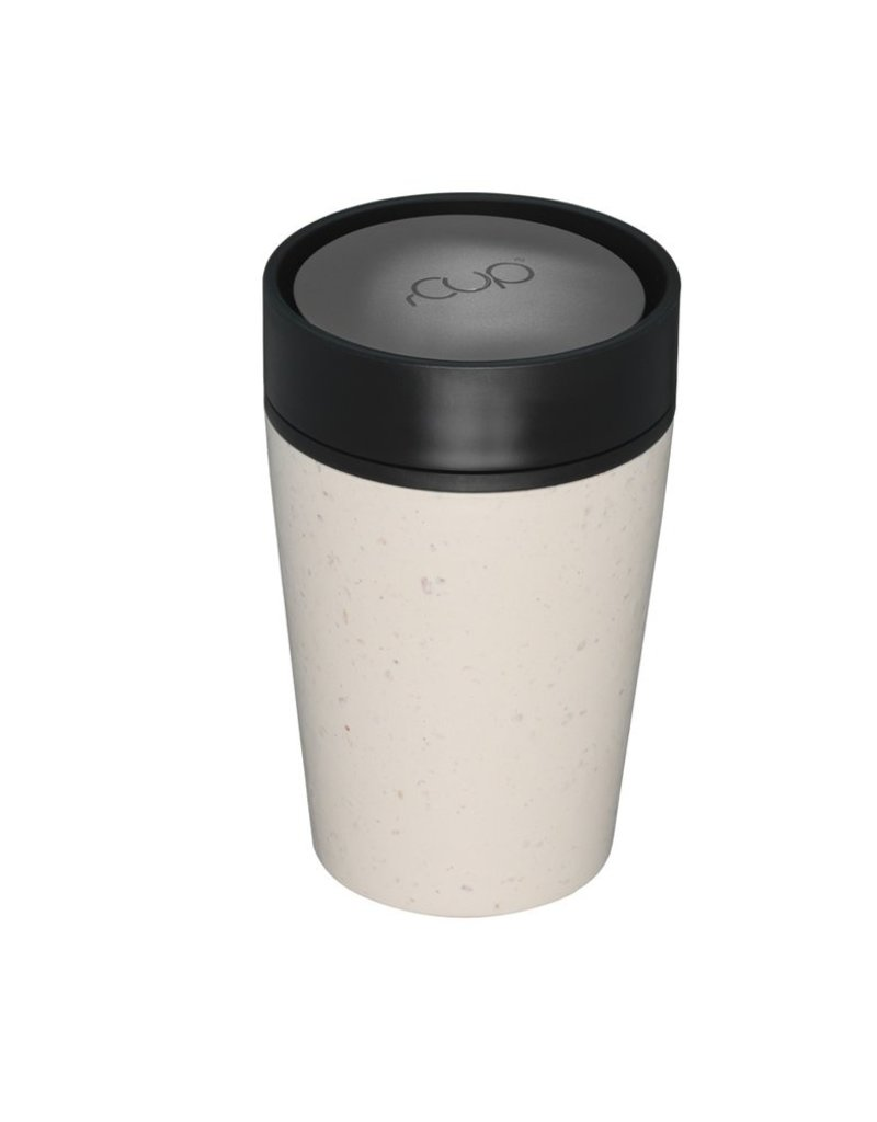 RCUP rCup Thermos Koffiebeker - 0,2L CREME/ZWART