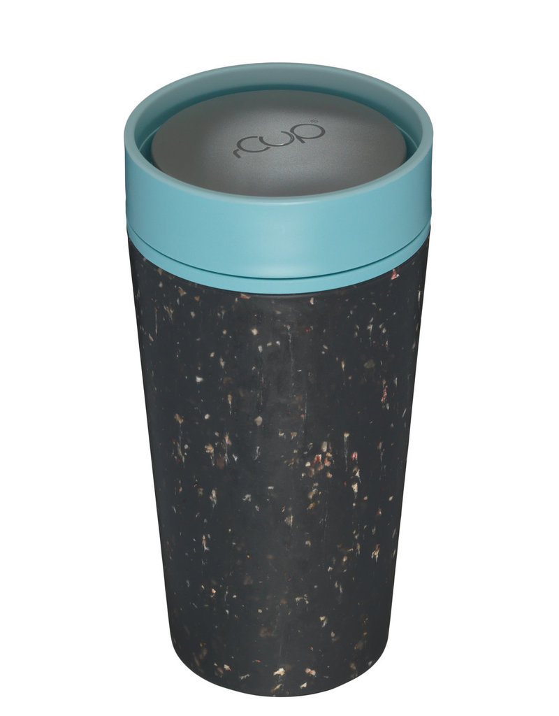 RCUP rCup Thermos Koffiebeker - 0,35L ZWART/BLAUW