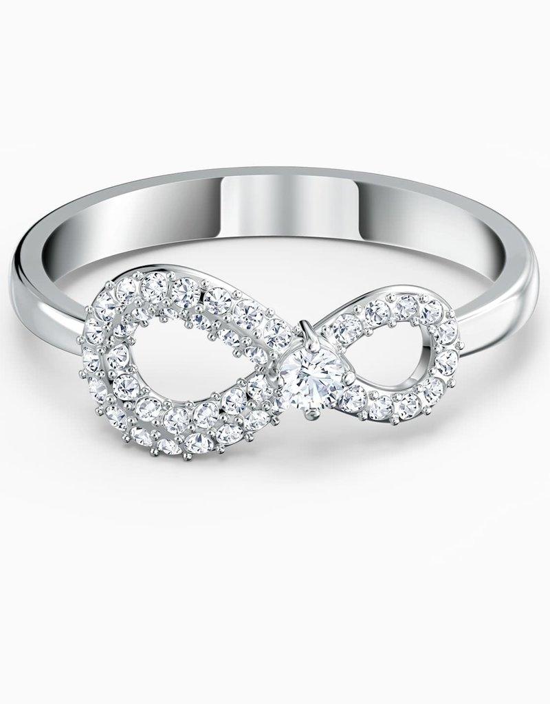 SWAROVSKI SWA  Infinity ring zilverkleur