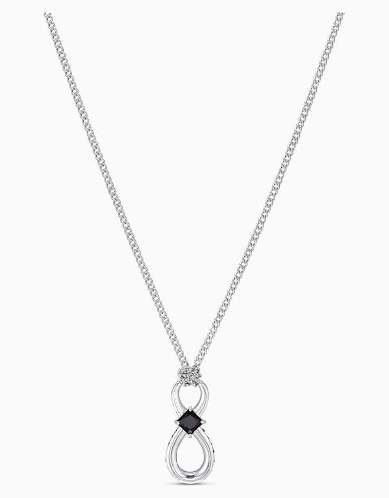 SWA Infinity ketting lang zwart roestvrij staal