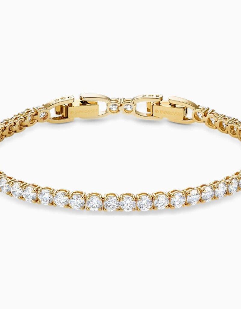 SWA Tennis Deluxe armband wit goudkleurige toplaag