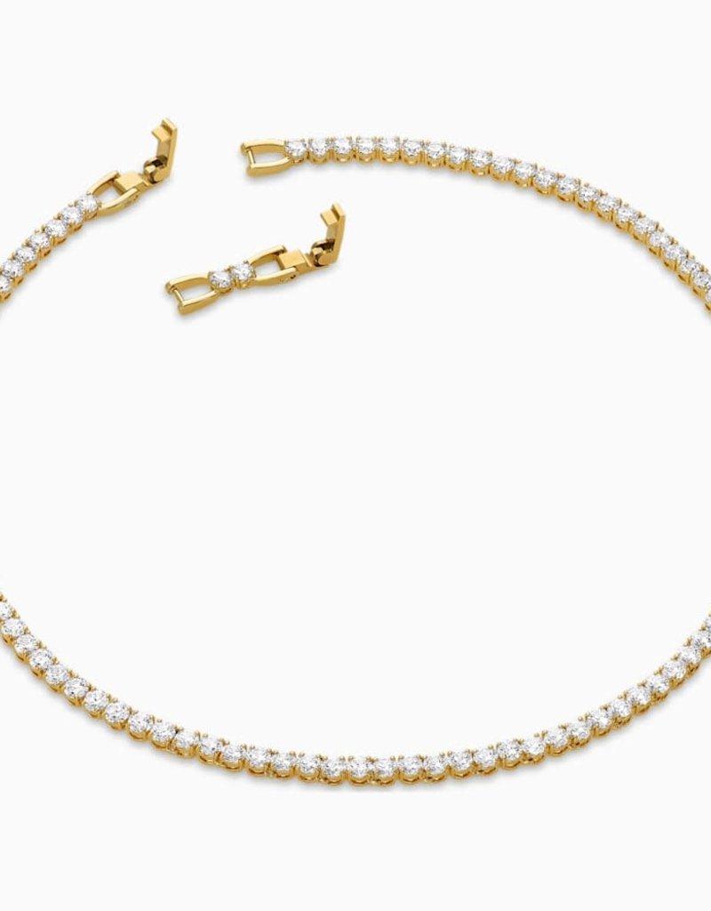 SWAROVSKI SWA Tennis Deluxe ketting wit goudkleurige toplaag