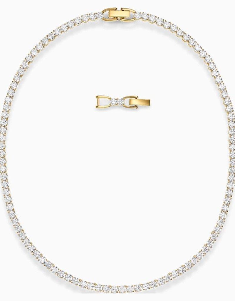 SWA Tennis Deluxe ketting wit goudkleurige toplaag