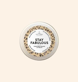 THE GIFT LABEL GIFT LABEL LIP BALM STAY FABULOUS