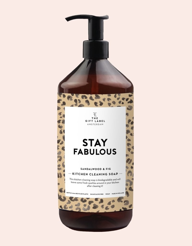 THE GIFT LABEL GIFT LABEL KITCHEN CLEANING SOAP STAY FABULOUS