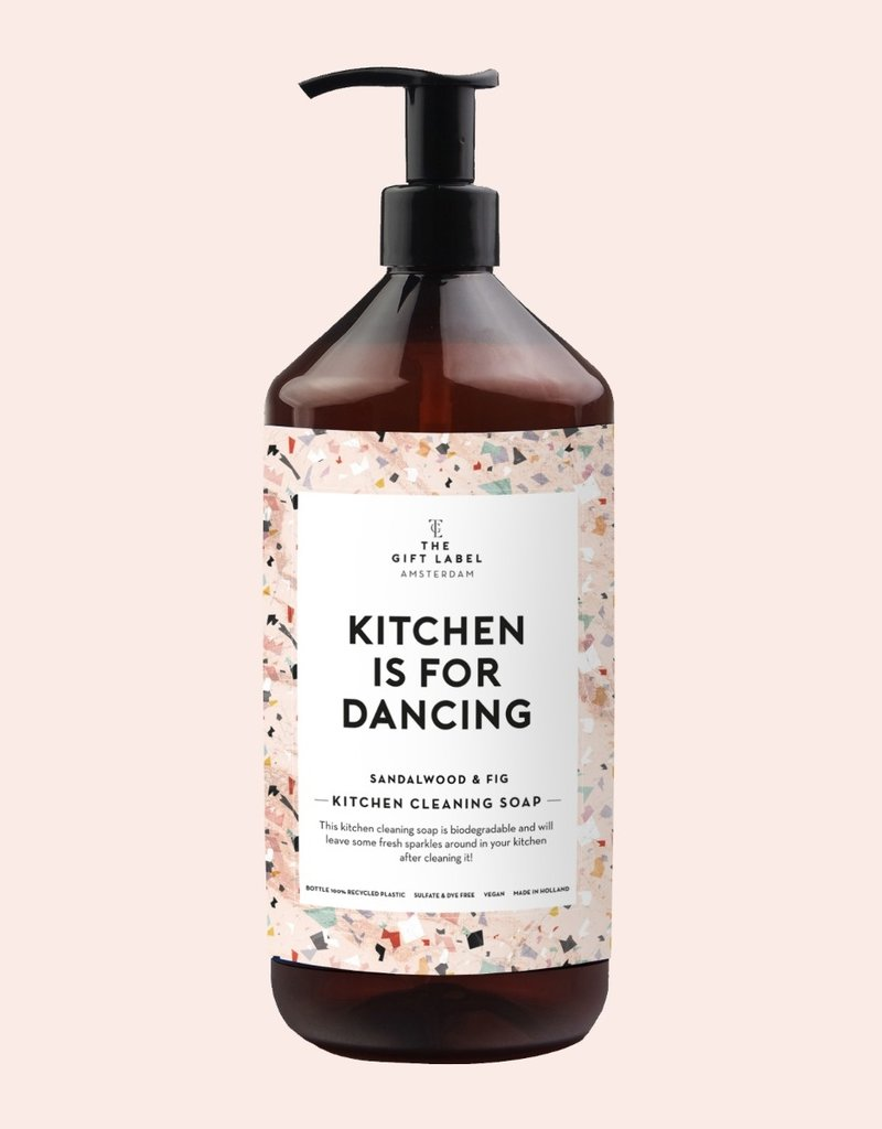 THE GIFT LABEL GIFT LABEL KITCHEN CLEANING SOAP KITCHEN IS FOR DANCING