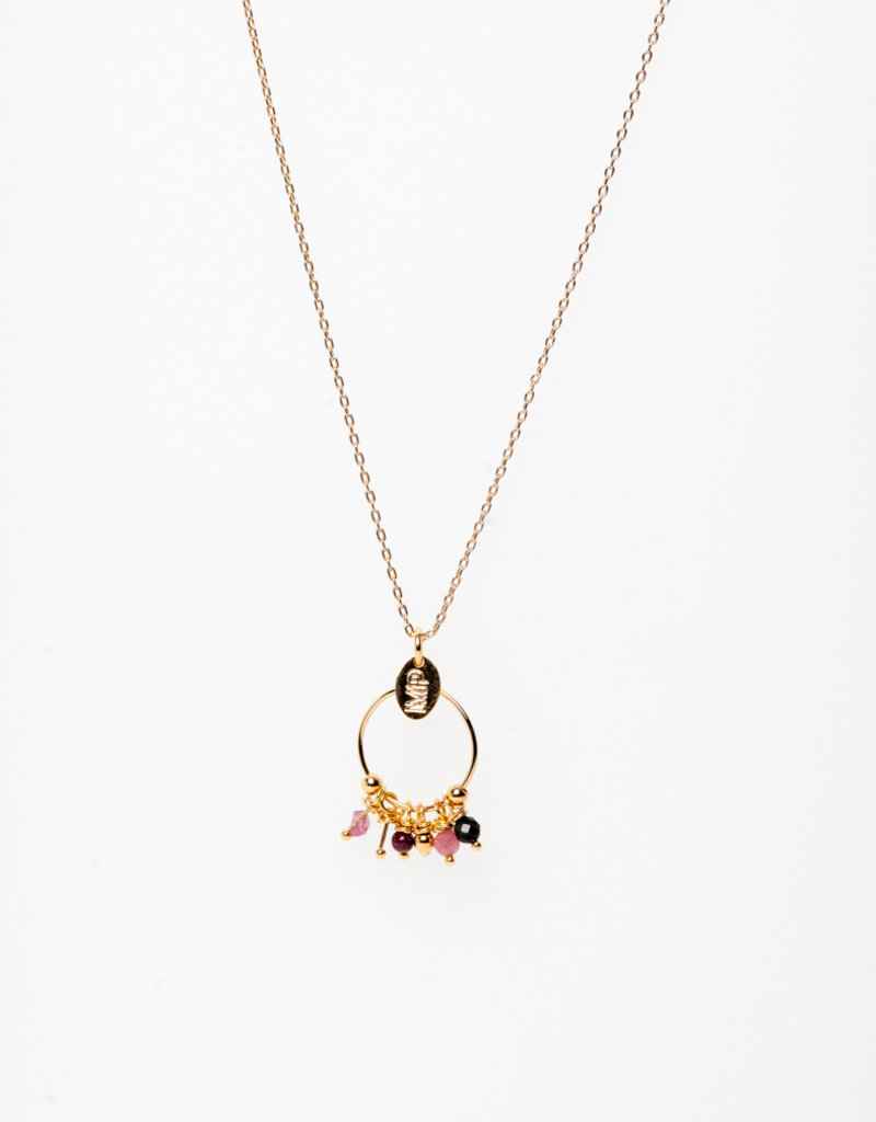 MURIELLE PERROTTI PERROTTI JULIE COLLIER PETITE CREOLE GOLD PINK