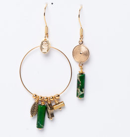 MURIELLE PERROTTI PERROTTI CREOLE CHARMS&PAMPILLE GOLD GREEN