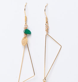 MURIELLE PERROTTI PERROTTI TRIANGLE REVERSED GOLD/GREEN