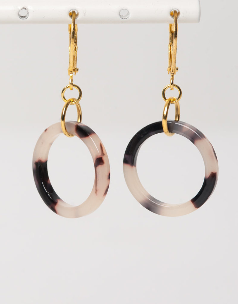 MON ONCLE MON ONCLE MARB OORRING PINK LEOPARD CIRCLE