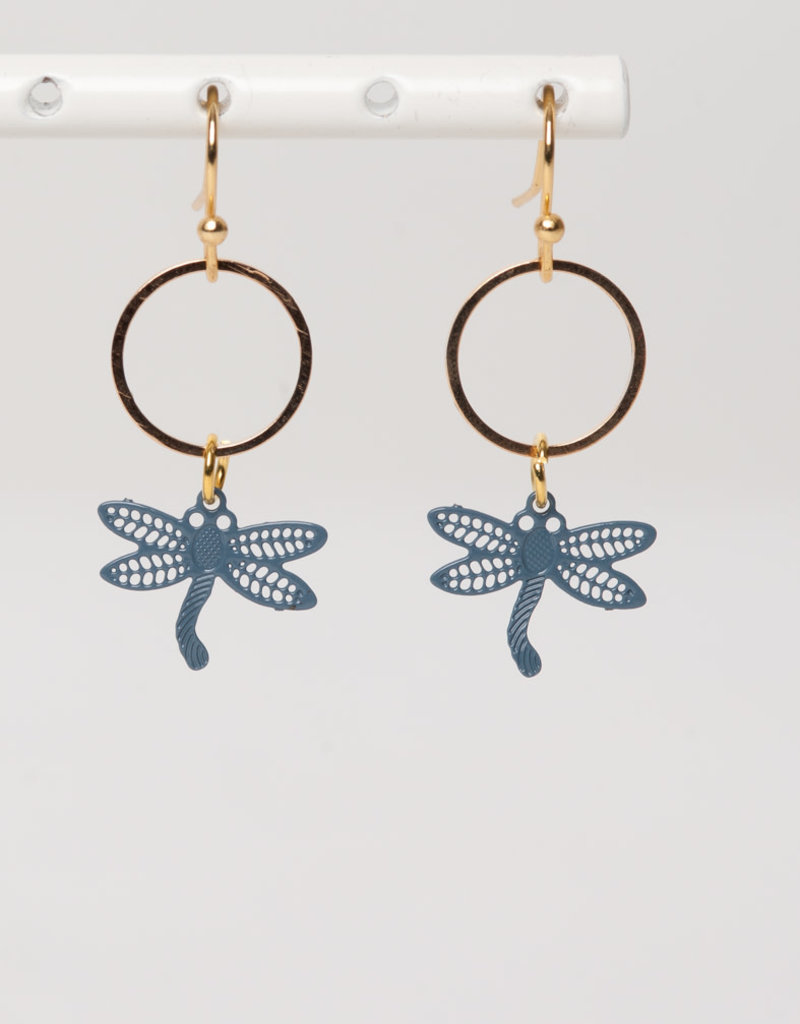 MON ONCLE MON ONCLE LEAF OORRING DRAGONFLY SMALL CIRCLE