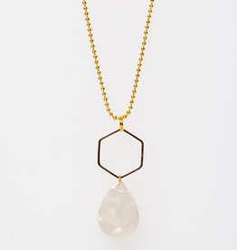 MON ONCLE MON ONCLE MARB KETTING WHITE MARBLE DROP