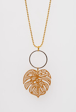 MON ONCLE MON ONCLE LEAF KETTING BIG OCHRE LEAF
