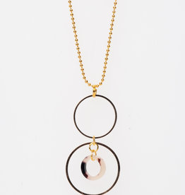 MON ONCLE MON ONCLE KETTING PINK LEOPARD