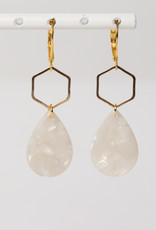 MON ONCLE MON ONCLE MARB OORRING WHITE MARBLE DROP