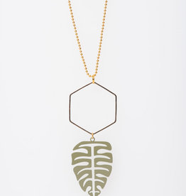 MON ONCLE MON ONCLE LEAF KETTING BIG GREEN LEAF