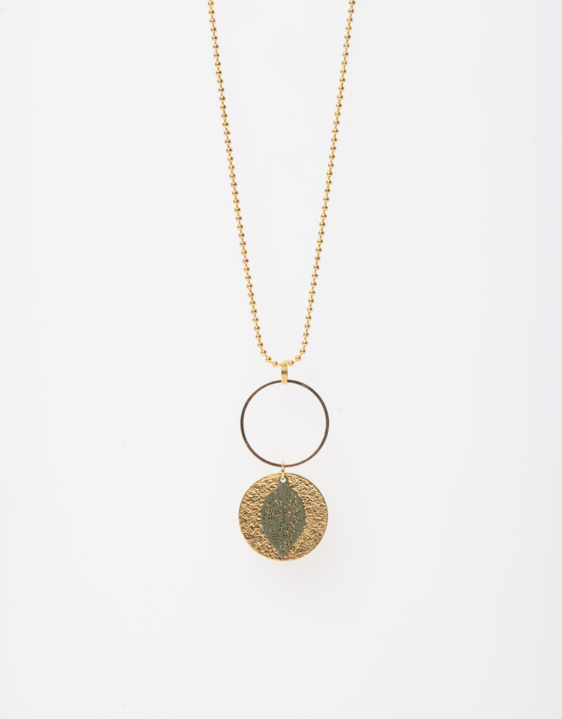 MON ONCLE MON ONCLE LEAF KETTING SMALL GREEN LEAF