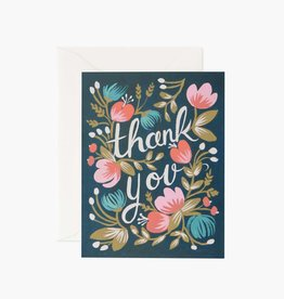 RIFLE PAPER CO RIFLE MISC MIDNIGHT GARDEN THANK YOU CARD